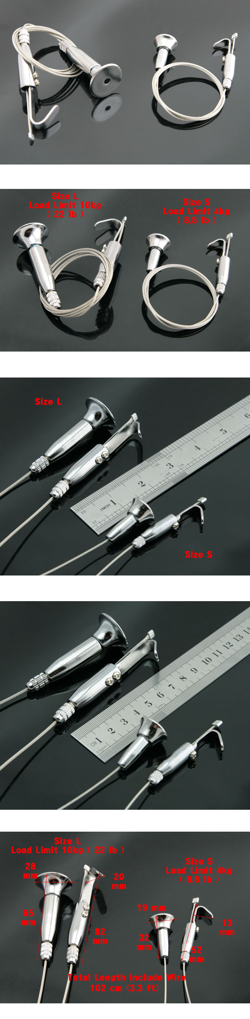 Ceiling Mount Wire Cable Hook