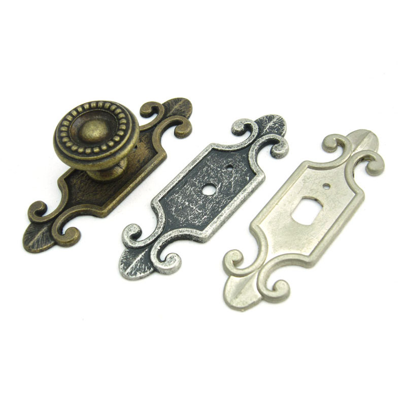Daisys hardware shop antique style decorative back plate for cabinet knobs - Dresser drawer pulls with backplate ...
